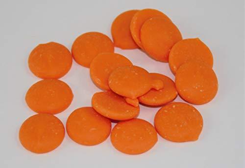 Callebaut Callets Orange 1kg, Coloured and Flavoured Chocolate, Orangenschokolade