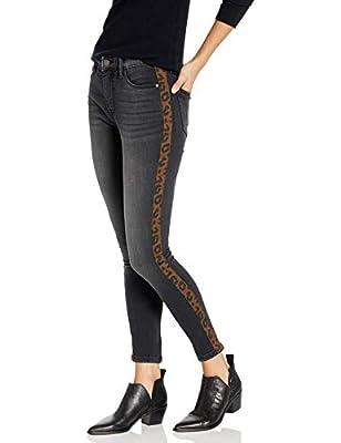 Sanctuary Women's Social Standard Skinny Ankle, Art School Grey - Cheetah Stripe, 29
