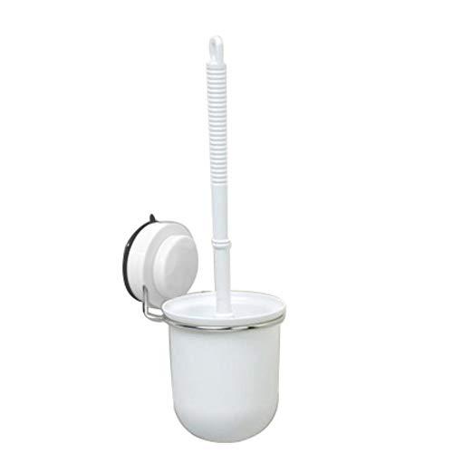 Joycaling Escobilla de inodoro y soportes de inodoro con mango largo, resistente, cepillo de inodoro y soporte de diseño moderno, cerdas duraderas sin cobertura.