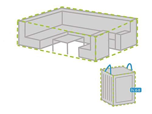 Ensemble de housses de protection pour salon de jardin avec housse pour 6-8 coussins 320 x 275 cm