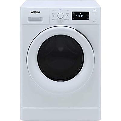 Whirlpool FreshCare FWDG86148WUK Freestanding Washer Dryer, 8/6kg, 1600rpm, White