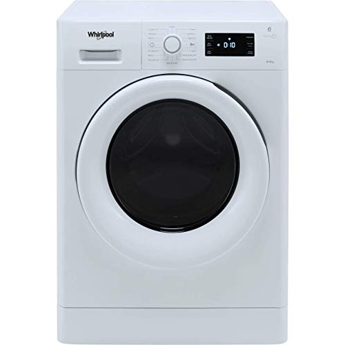 Whirlpool FreshCare FWDG86148WUK Freestanding Washer Dryer, 8/6kg, 1600rpm, White