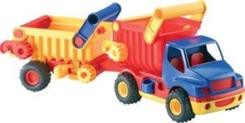 Wader 03940 - ConsTruck Muldenkipper mit Anhänger
