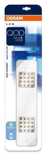 Osram 73258 QOD Domino Short 2 x 4 W LED-Unterbauleuchte, weiß