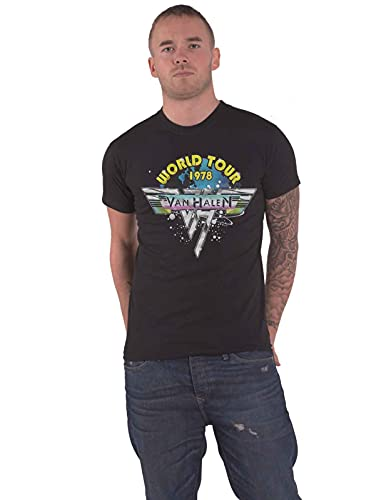 Official Van Halen 1978 World Tour T-shirt for Men, S to XXL