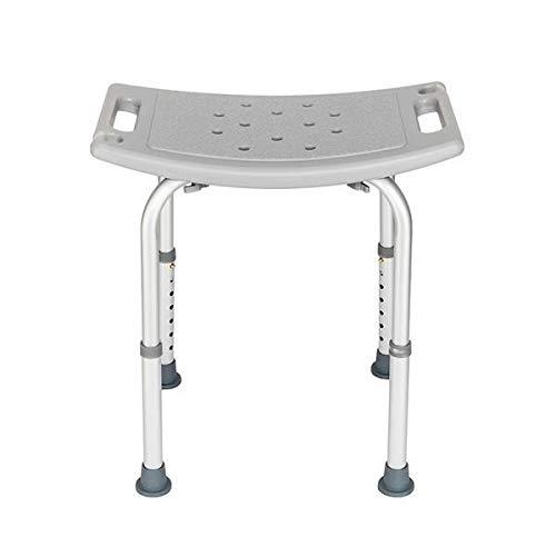 T-ara Suave y Confortable Silla de baño Envejecida de aleación de Aluminio Gris diseño de Moda