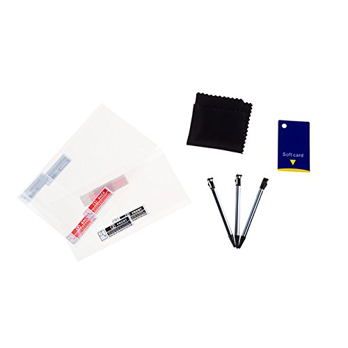 3DS/3DSXL - Juego de 2 Protectores de Pantalla y 2 lápices capacitivos