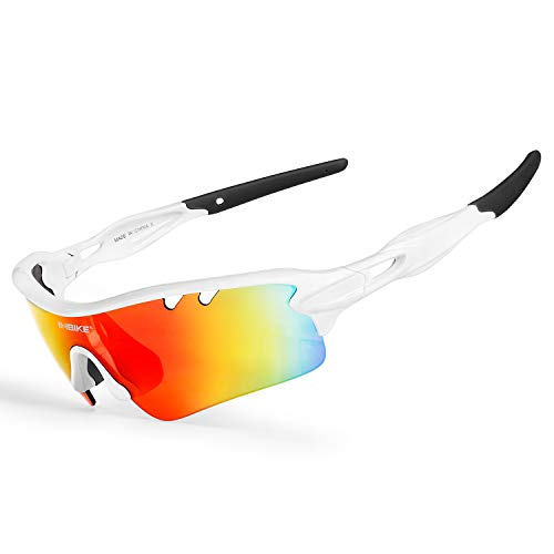 INBIKE Cycling Glasses Polarized for Sports Sunglasses for Mountain Bike MTB with UV Protection(White)