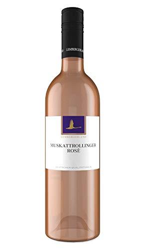 Württemberger Wein Roßwager Stromberg Muskat-Trollinger rosé QW halbtrocken (1 x 0.75 l)