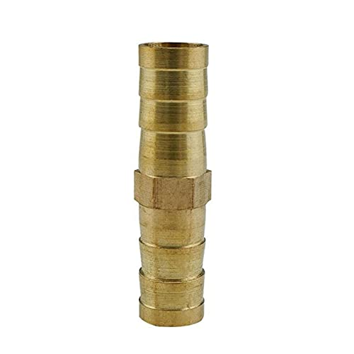 Zmaoyun-Tubos de latón Ajuste de la tubería de la manguera recta de latón Igual Barb 4mm 6mm 8mm 10mm 12mm 14 mm 19 mm Conector de púas de cobre de galería Adaptador de conexión, Material de latón dur
