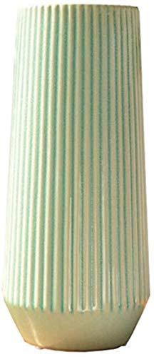 Jarrones Floreros Sala florero floreros Cocina Centro de Mesa de Oficina Dormitorio del Hotel Centros de Inicio Material de Cristal de cerámica Alto 12x4.5in cerámica Flor