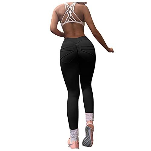 BIBOKAOKE Yogahose Damen Sexy Hohe Taille Leggings Fitnesshosen Stretch Trainingshose Mit Taschen Jogginghose Yoga Fitness Sporthose Bleistifthose Yoga-Hose Frauen Pants