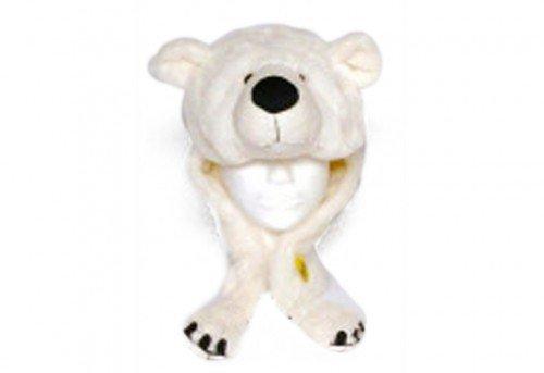 """Plush Hat"""" Polar Bear"""" with scarf, Unisize (gorro/sombrero)"""