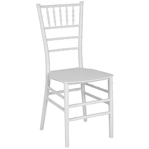 Flash Furniture Hercules - Silla de Resina Dorada apilable Chiavari