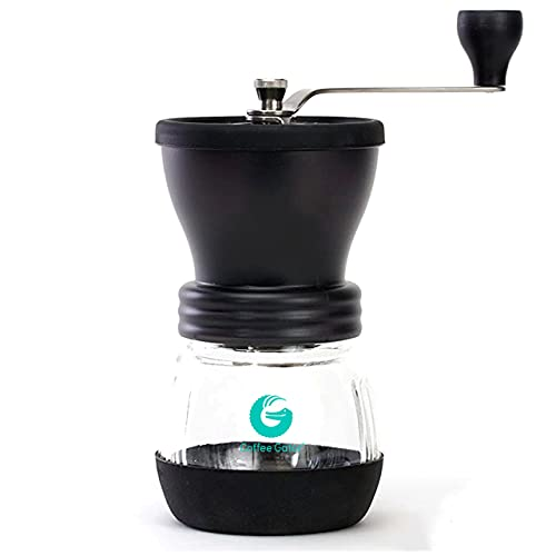 Coffee Gator Hand Coffee Grinder Mill For Espresso, Coffee Beans - Adjustable Bean Settings, Hand Crank, Portable, Saves Energy - Manual Burr Grinders