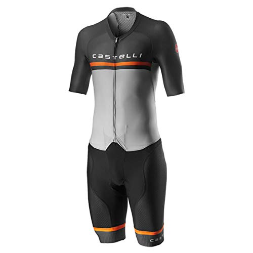 CASTELLI Sanremo 4.0 Speed Suit - Body para Hombre, Color Plateado y Gris