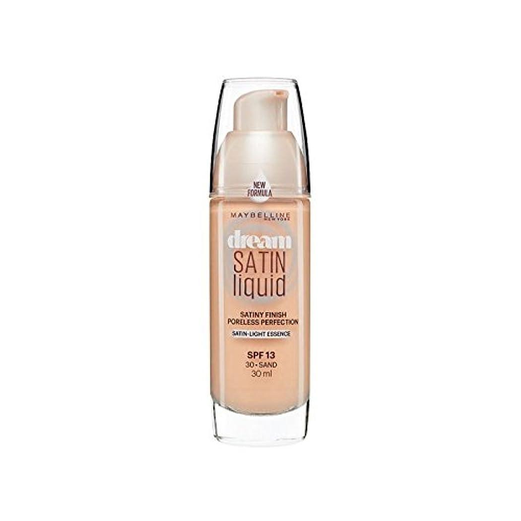 メイベリン夢サテンリキッドファンデーション30砂の30ミリリットル x4 - Maybelline Dream Satin Liquid Foundation 30 Sand 30ml (Pack of 4) [並行輸入品]