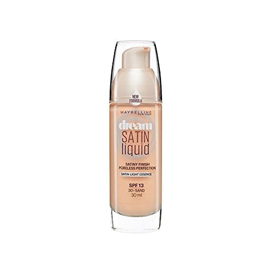 リーチ裸メルボルンメイベリン夢サテンリキッドファンデーション30砂の30ミリリットル x2 - Maybelline Dream Satin Liquid Foundation 30 Sand 30ml (Pack of 2) [並行輸入品]