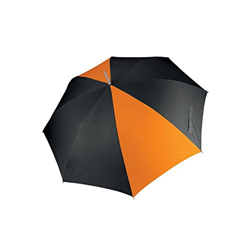 KiMood - Paraguas para golf apertura automática unisex (Paquete de 2) (Talla Única) (negro/naranja)