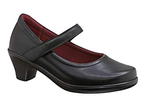 Orthofeet Comfortable 2 Inch Low Heels Bunions Pumps Plantar Fasciitis Womens Dress Shoes BioHeels Vera Black
