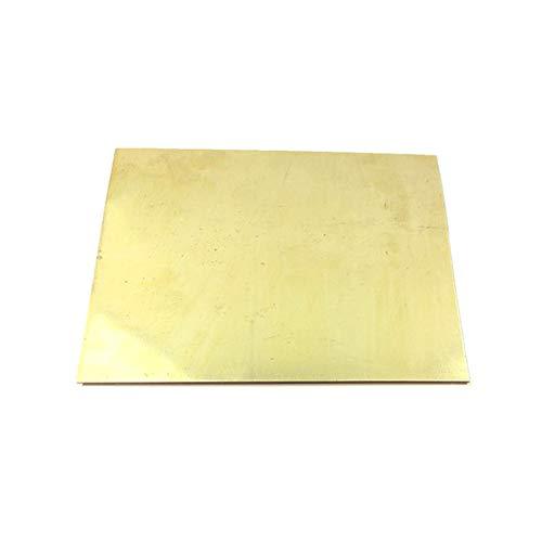GOONSDS Lámina de latón H62 de Metal para decoración de Bricolaje, Laboratorio y Muebles,Thickness 3mm,100x150mm