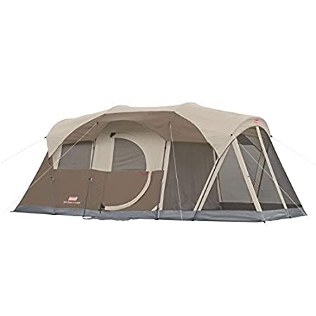 Coleman WeatherMaster 6-Person Screened Tent. This is the side with the hinged door.