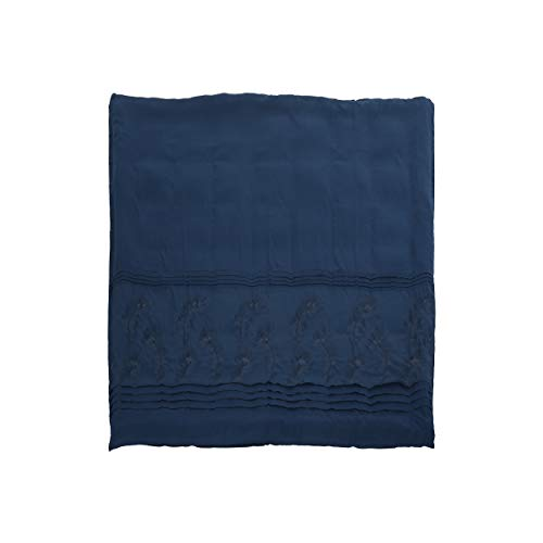 Christopher Knight Home 309035 Zoey Queen Size Fabric Duvet, Navy