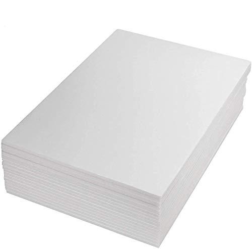 Starvast - Lote de 16 hojas de poliestireno A3 en papel duro blanco 5 mm, paneles de espuma para fotos de paneles, 297 × 420 mm