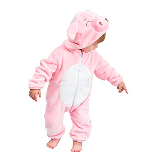 Unisex Kids Baby Pig Cosplay Halloween Costumes Cartoon Outfit One Piece Homewear 90