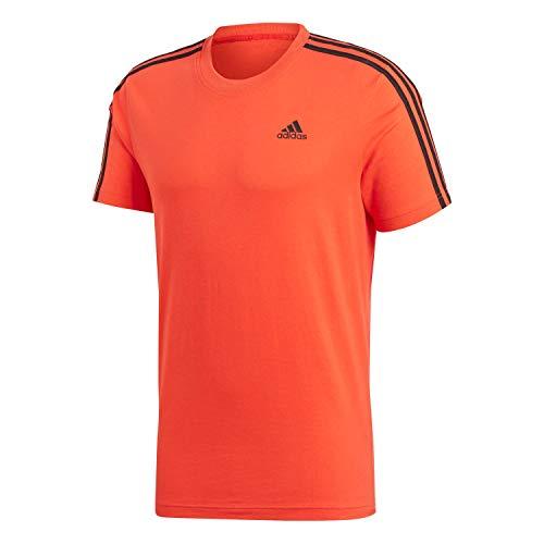 adidas ESS 3S tee Camiseta, Hombre, Rojo (Roalre/Negro), M