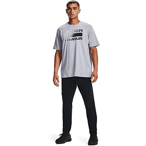 Under Armour UA Team Issue Wordmark Camiseta, Gris (Mod Gray/Black), XL para Hombre