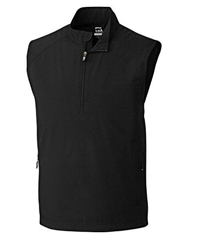 Cutter & Buck Men's Cb Weathertec Summit Half-Zip Vest, Black, XX-Large