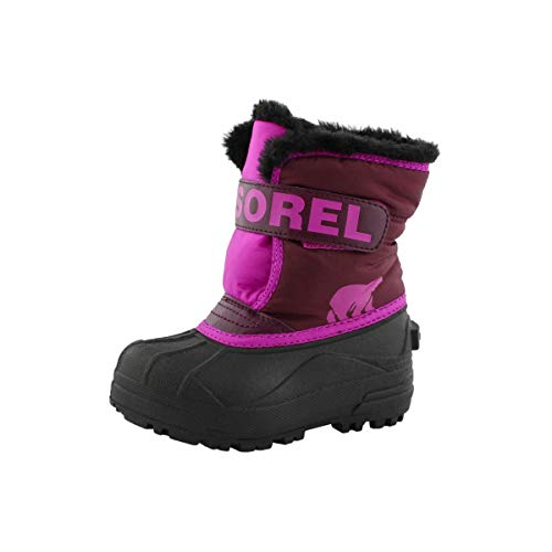 Sorel Toddler Snow Commander Boot for Rain and Snow - Waterproof - Purple Dahlia - Size 4