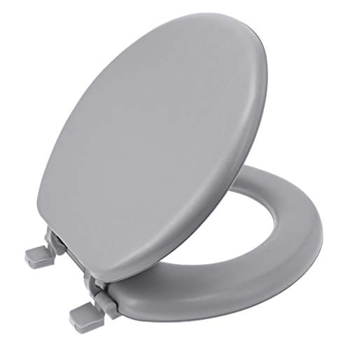 Ginsey Standard Soft Toilet Seat with Plastic Hinges, Size: Pack of 1,...