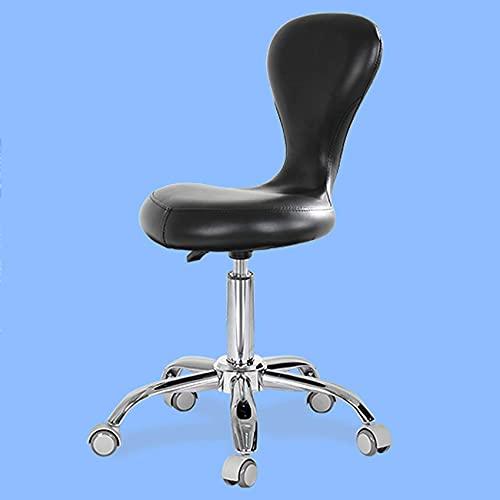 QLIGAH Silla de Taburete de Sala de Estar giratoria y sillón de Taburete portátil, Taburete de Trabajo con cojín