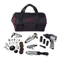 Find Cheap Sunex SX231PBAGPR1 Air Tool Kit with Accessories & Gatemouth Bag - 5 Piece