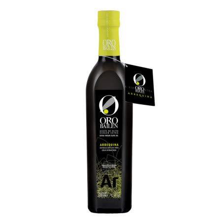 Caja con 12 botellas de 500 ml | Aceite Oro Bailén Reserva Familiar | Aceite de Oliva Virgen Extra | Aceite Variedad Arbequina.