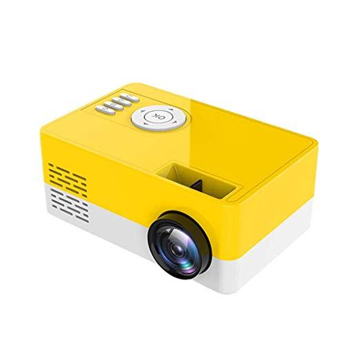 FGVBC Mini proyector LED 320x240 píxeles 1080P Audio USB Compatible con HDMI Reproductor de Video Multimedia doméstico portátil (Color: Blanco)