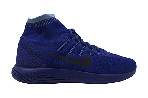 Nike Women's Shoes Lunarglide 8 Hight Top Lace Up Basketball, Blue, Size 11.5