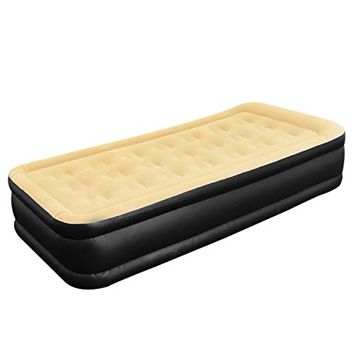 ALBERT AUSTIN Blow Up Bed Inflatable Mattress Luxury And Waterproof Air Bed   High Rised Air Bed   Built-in Electric Pump   Great Blowup Beds for Camping, Holidays, Guests Visits (Queen 203x157x47cm)