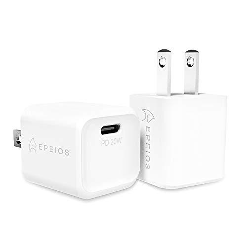 【2個セット】 Epeios PD 充電器 20W USB-C 急速充電器 超小型 【PSE認証済/Power Delivery 3.0】 iPhone 12 / 12 Pro /12 Mini/ 11/11 Pro /11 Pro Max iPhoneXS/XS Max/XR/iPad Air(第4世代)/Android その他 各種機器対応 (ホワイト) PA223A