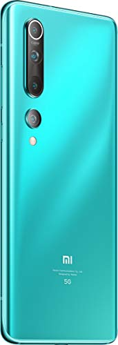 Mi 10 (Coral Green, 8GB RAM, 256GB Storage) – 108MP Quad Camera, SD 865 Processor, 5G Ready
