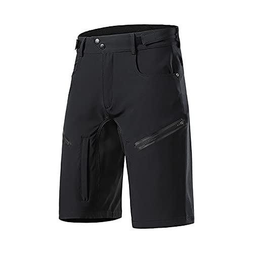 Uphold Pantalones Cortos de Ciclismo,Culottes Ciclismo Verano MTB Bicicleta,Sueltos Ciclismo Pantalones Cortos para MTB los Deportes al Aire Libre Secado Rápido(Size:S,Color:Negro)