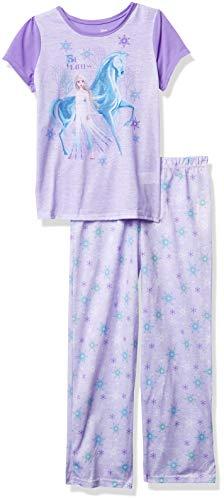 Disney Girls' Frozen Pajama Set, BE Fearless_2, 6