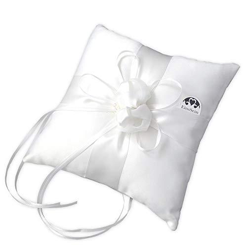 cuscino divano grande EinsSein 1x Cuscino matrimonio Farfalla 20x20 grande cremoso portfedi cuore avorio porta cuscinetto cuscini anelli doppio con strass gioielli fedi nuziali per porta il pizzo cane da ricamare e cestino