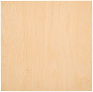 3 mm 1/8 x 12 x 12 Inch Premium Baltic Birch Plywood, Box of 16 B/BB Grade Birch Veneer Sheets, Perfect for Laser, CNC Cutting and Wood Burning by Woodpeckers