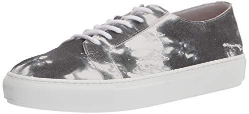 Aquatalia womens Classic Low Top Sneaker, Black/White, 8.5 US