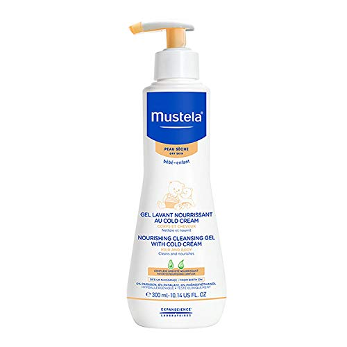 Mustela moisturizing cleansing gel with cold cream 300ml.