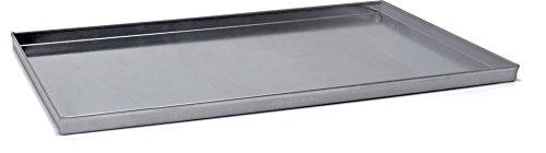 Rechthoekige bakplaat van aluminium - gelaste hoeken 3003, diameter 60 x 40 cm.