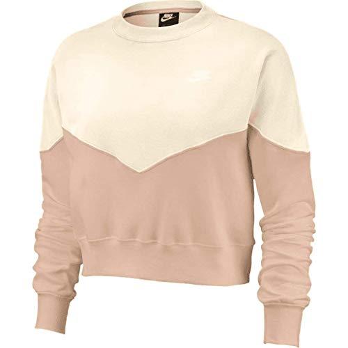 Nike Heritage - Sudadera de forro polar para mujer Rose/Marfil S
